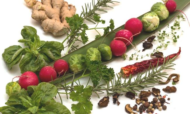 Koření, zelenina