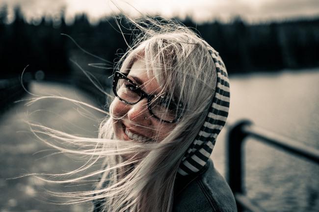 Žena, která se směje