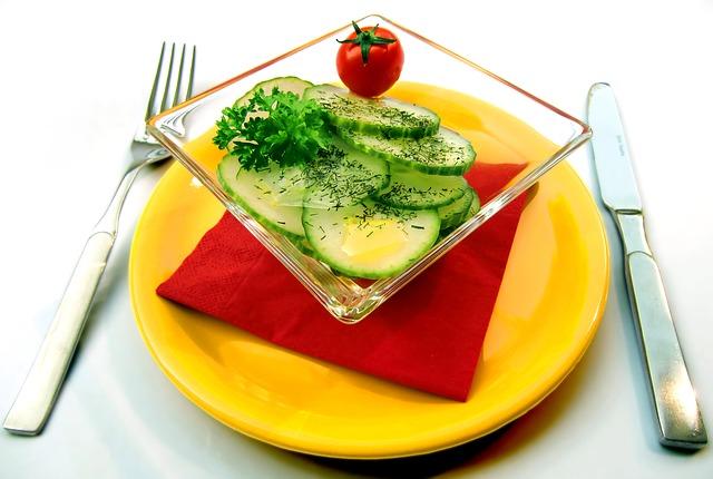 Zdravá výživa, salát, zelenina