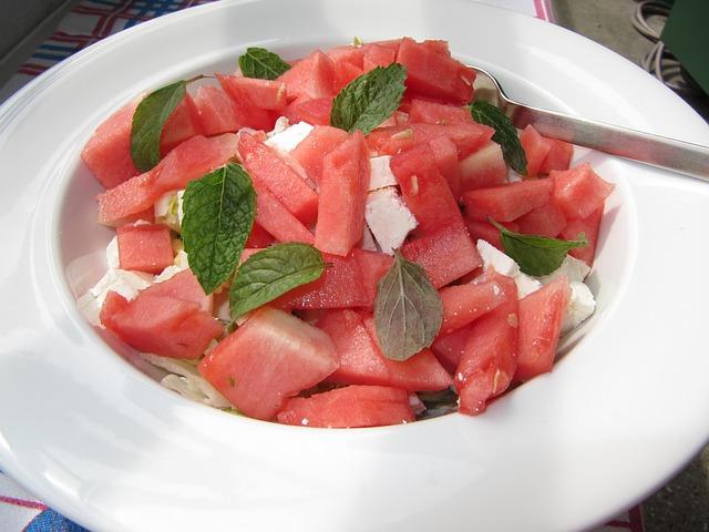 Melounový salát, letní jídelníček