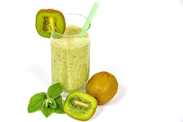 Kiwi koktejl - zdravý dezert