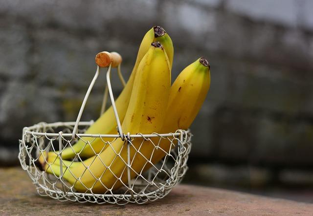 Žluté potraviny - banány