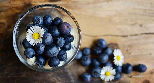 Barevný jídelníček, modré potraviny