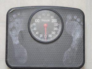 Hubnutí, váha