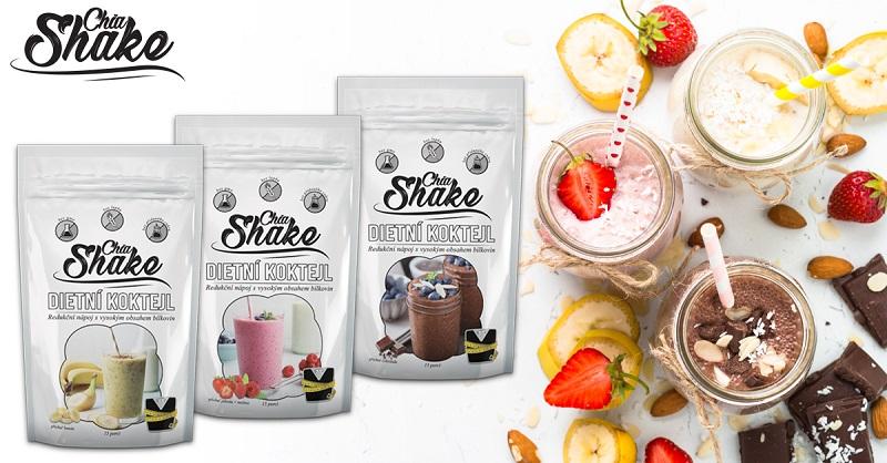 Chia Shake dietní koktejly