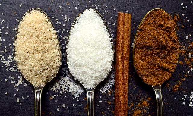 Cukr, bílý cukr, třtinový cukr
