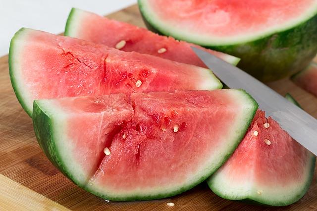 Ovoce na odvodnění organismu: meloun
