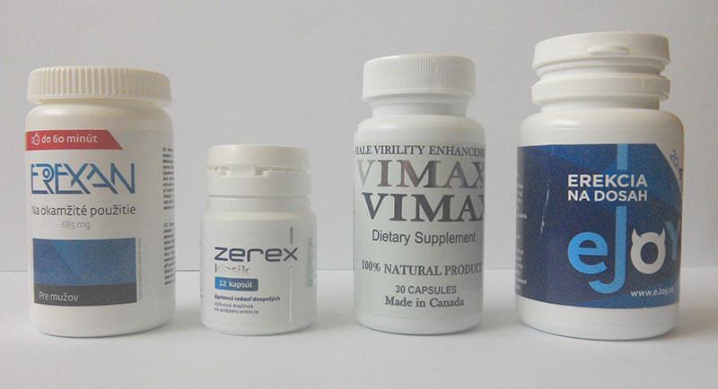 Alternativní pilulky na erekci.