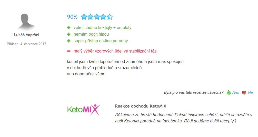 ketomix hodnocení a zkušenosti