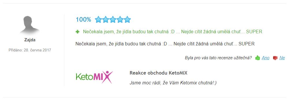 zkušenosti s ketomix dietou