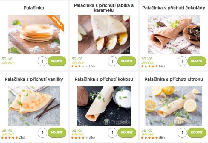 Nabídka produktů značky Prodietix.