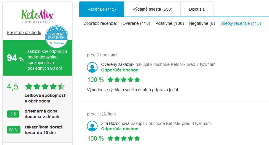 Recenze na heureka.sk