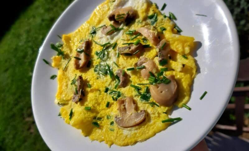 Low carb recepty - žampionová omeleta