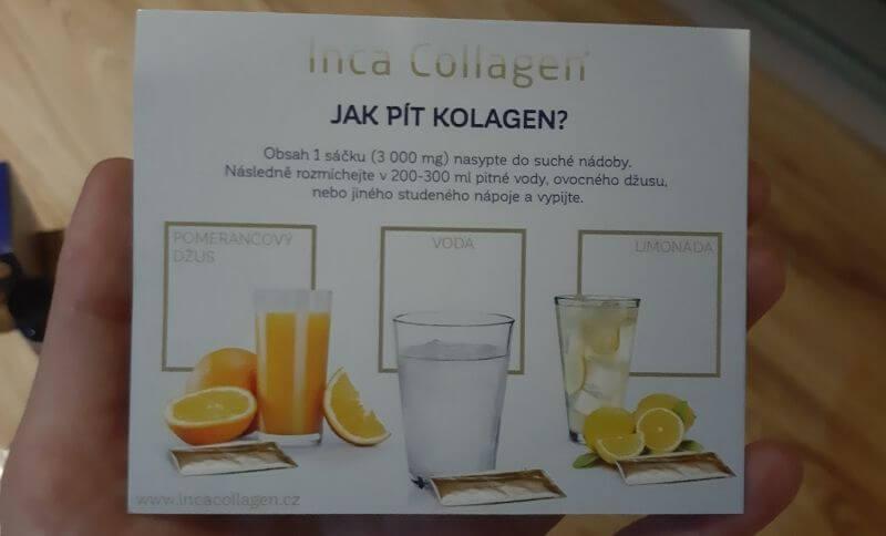 Jak pít Inca Collagen