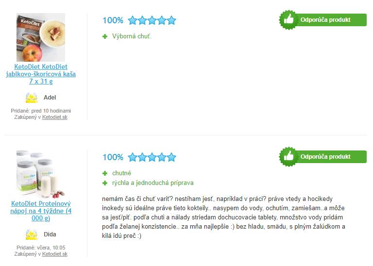 Pozitivní recenze ketonové diety KetoDiet