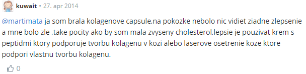 Negativní zkušenost s kolagenovými kapslemi