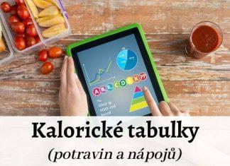 Kalorické tabulky potravin a nápojů, včetně tipů na aplikace