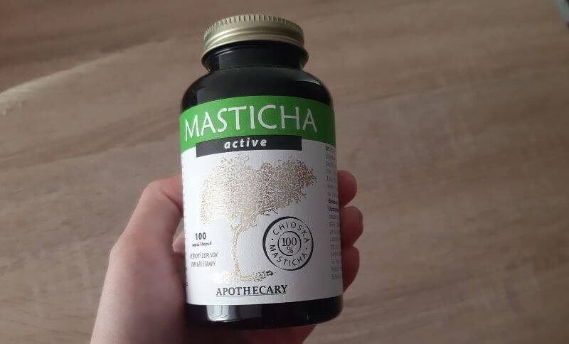 Jedno balení Masticha Active s obsahem 100 kapslí