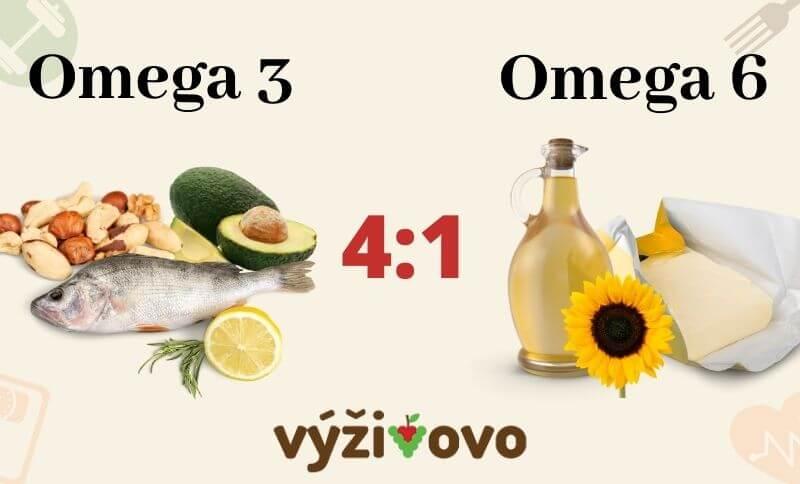 Doporučený poměr omega 3 a omega 6 mastných kyselin v jídelníčku na hubnutí
