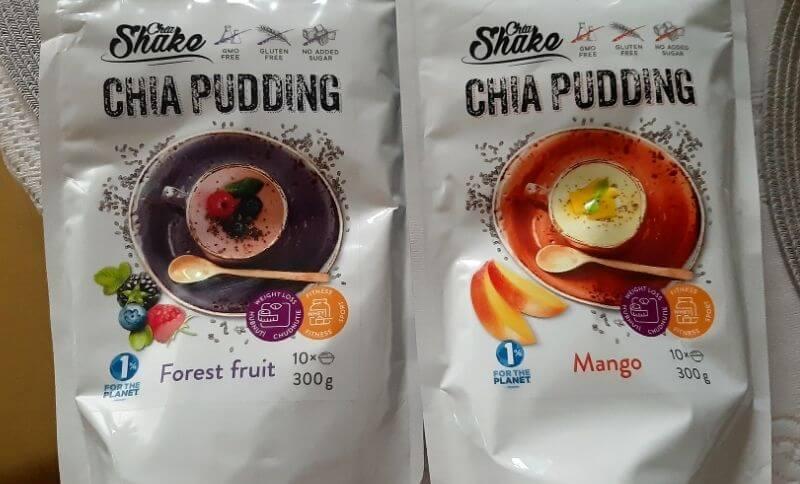 Celé balení chia pudinku od společnosti ChiaShake: lesní směs a mango