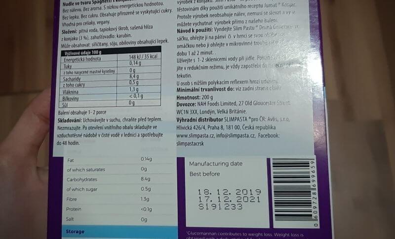 Základní ingrediencí těstovin Slim Pasta je konjaková mouka