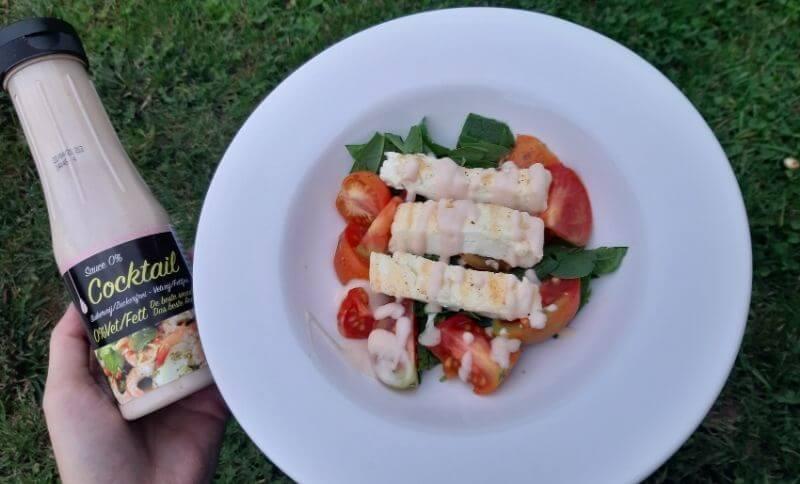 Zeleninový salát s grilovaným sýrem a Coctail dresinkem Slim Pasta
